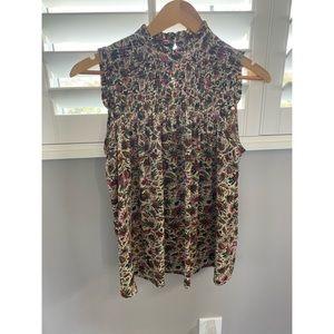 Anthropologie Maeve paisley sleeveless blouse Sz 2